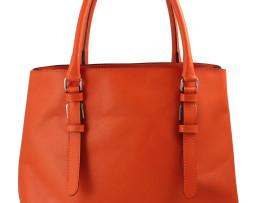 Borsa color arancio  Stampa saffiano Pratica da portare a mano